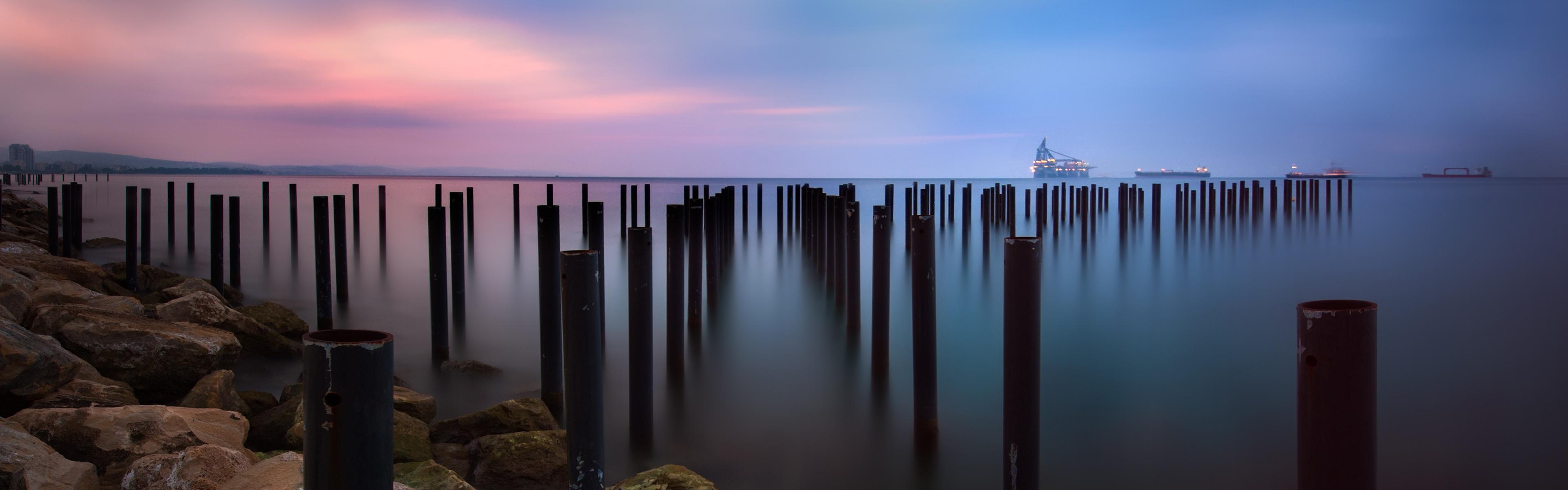 1095 2: Toward the sea iPhone Panoramic wallpaper