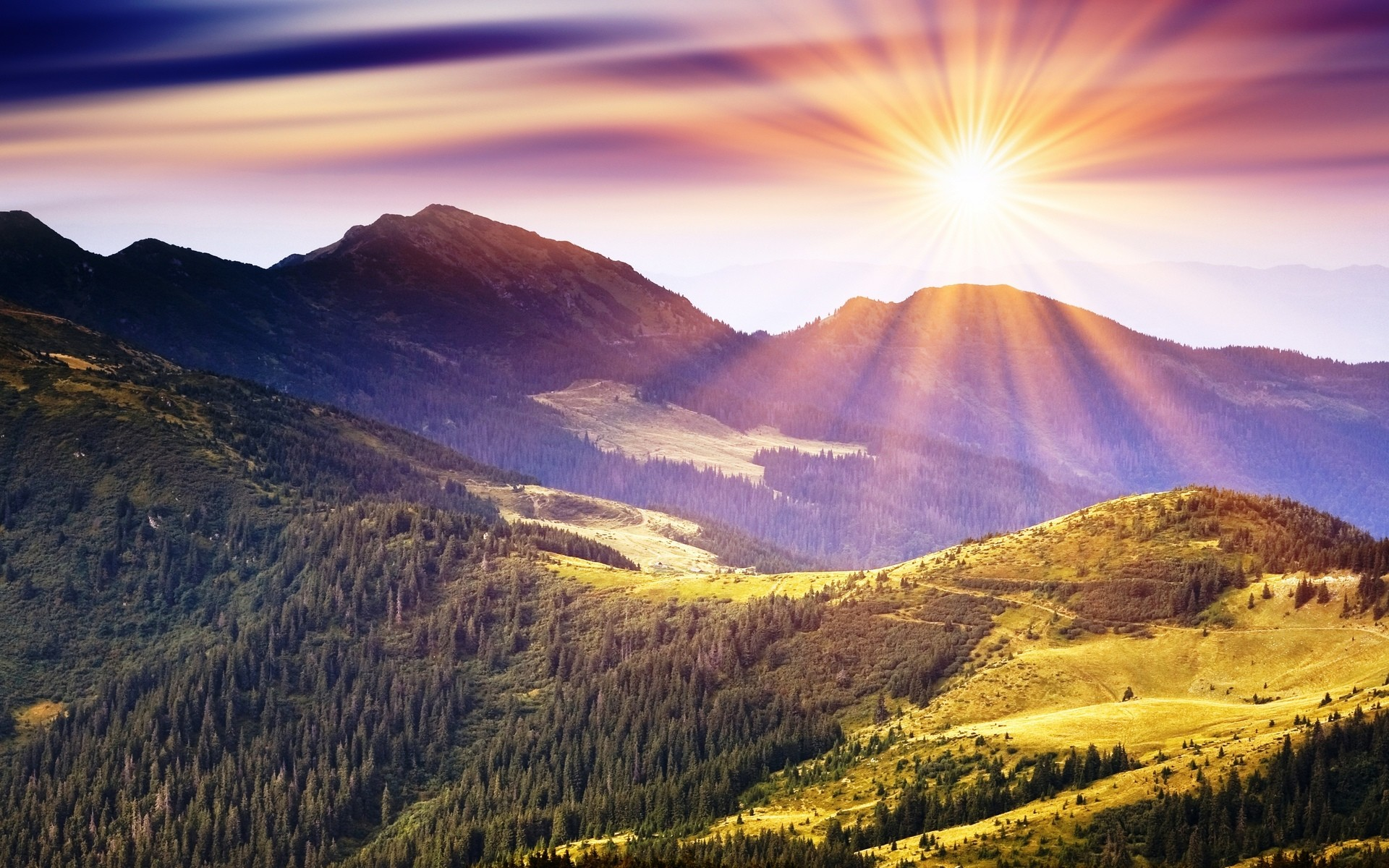 Beauty Sunrise in Mountain for Wallpapers