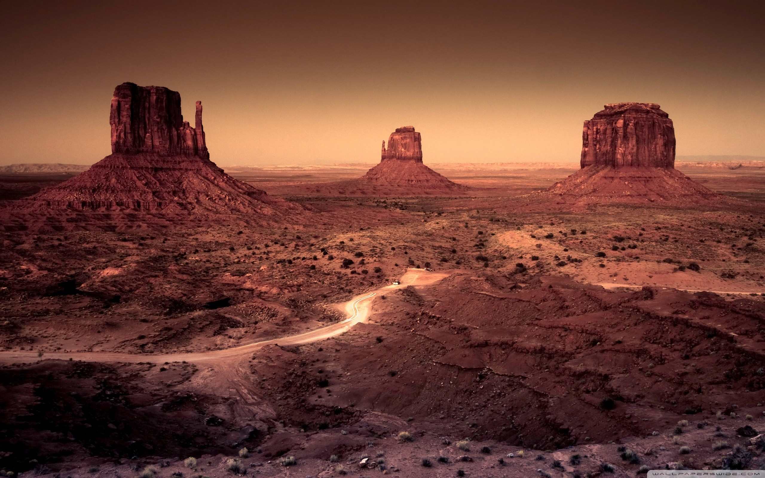 desert arizona monument valley rock formations wallpaper background .