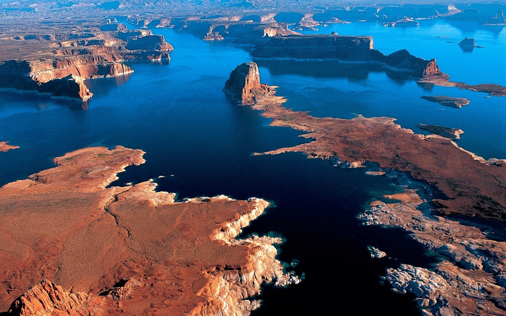 Arizona, Aerial View, Lake, Desert, Cliff, Sunset, Water, Nature, Landscape  Wallpapers HD / Desktop and Mobile Backgrounds