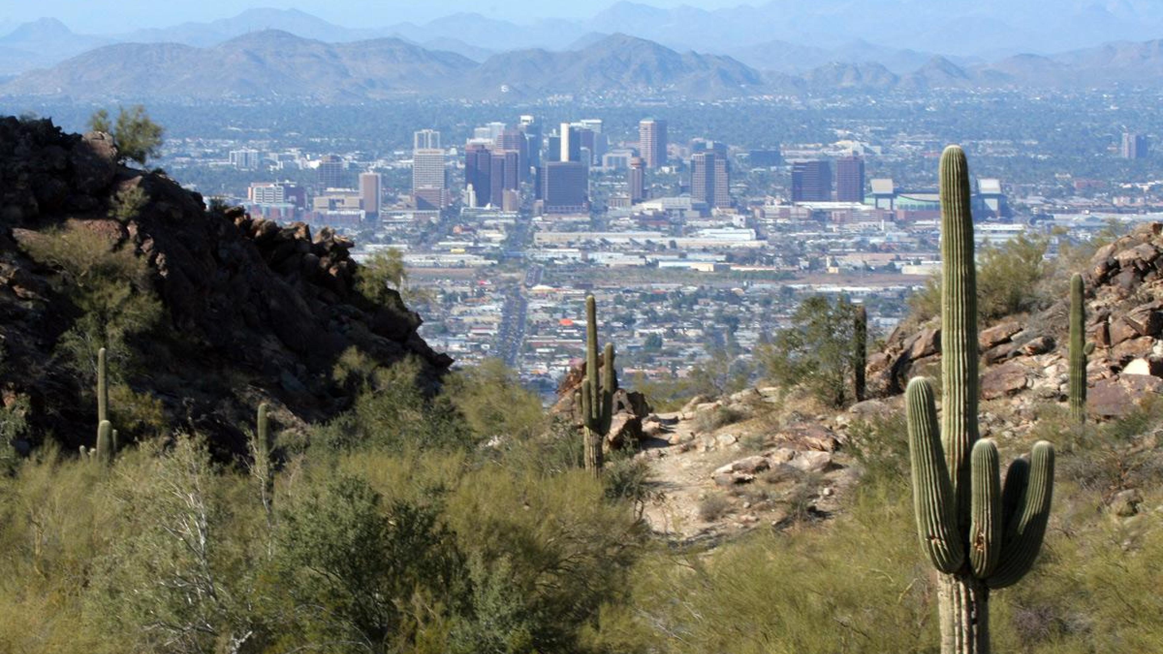 Earth City Cactus Desert Phoenix Arizona HD Wallpapers, Desktop .