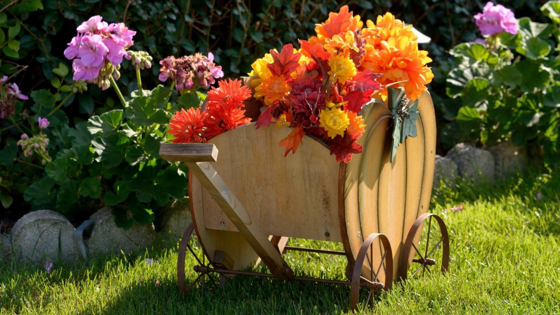 Festive Tag – Festive Wagon Decor Harvest Autumn Flower Scene Desktop  Flowers Backgrounds for HD 16