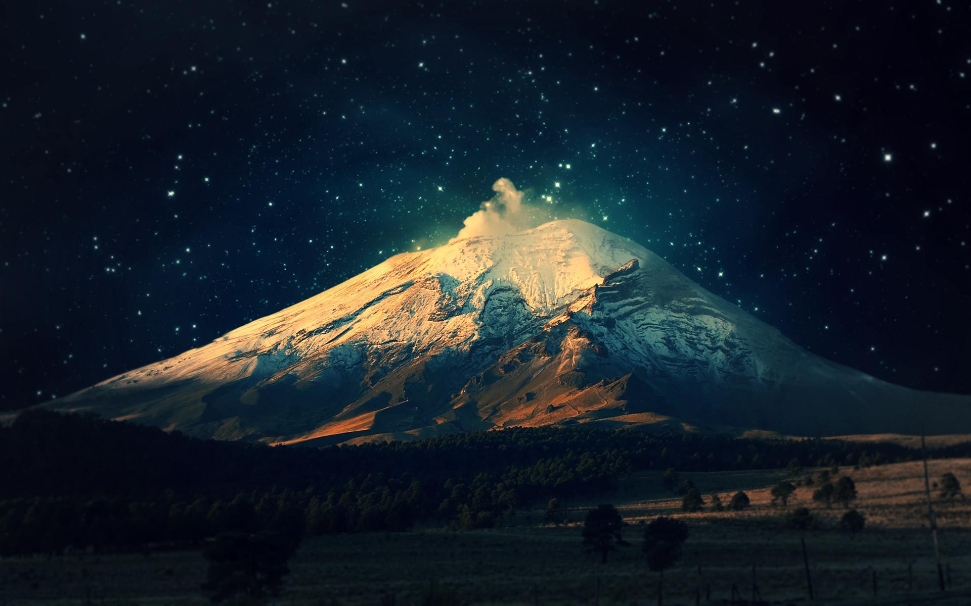 Night Mountain Desktop Wallpapers For Desktop Wallpaper px 589.28  KB