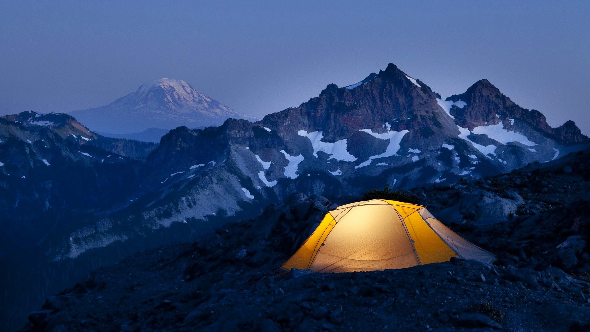 Photography Camping mountain night sport light snow wallpapers.