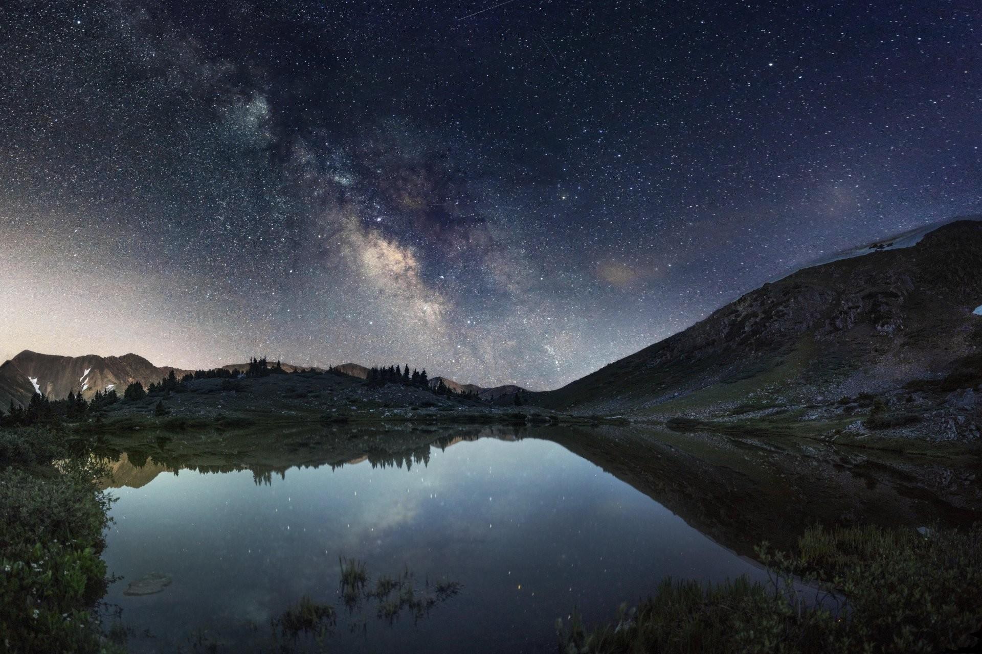 clear creek colorado united states mountain lake night milky way