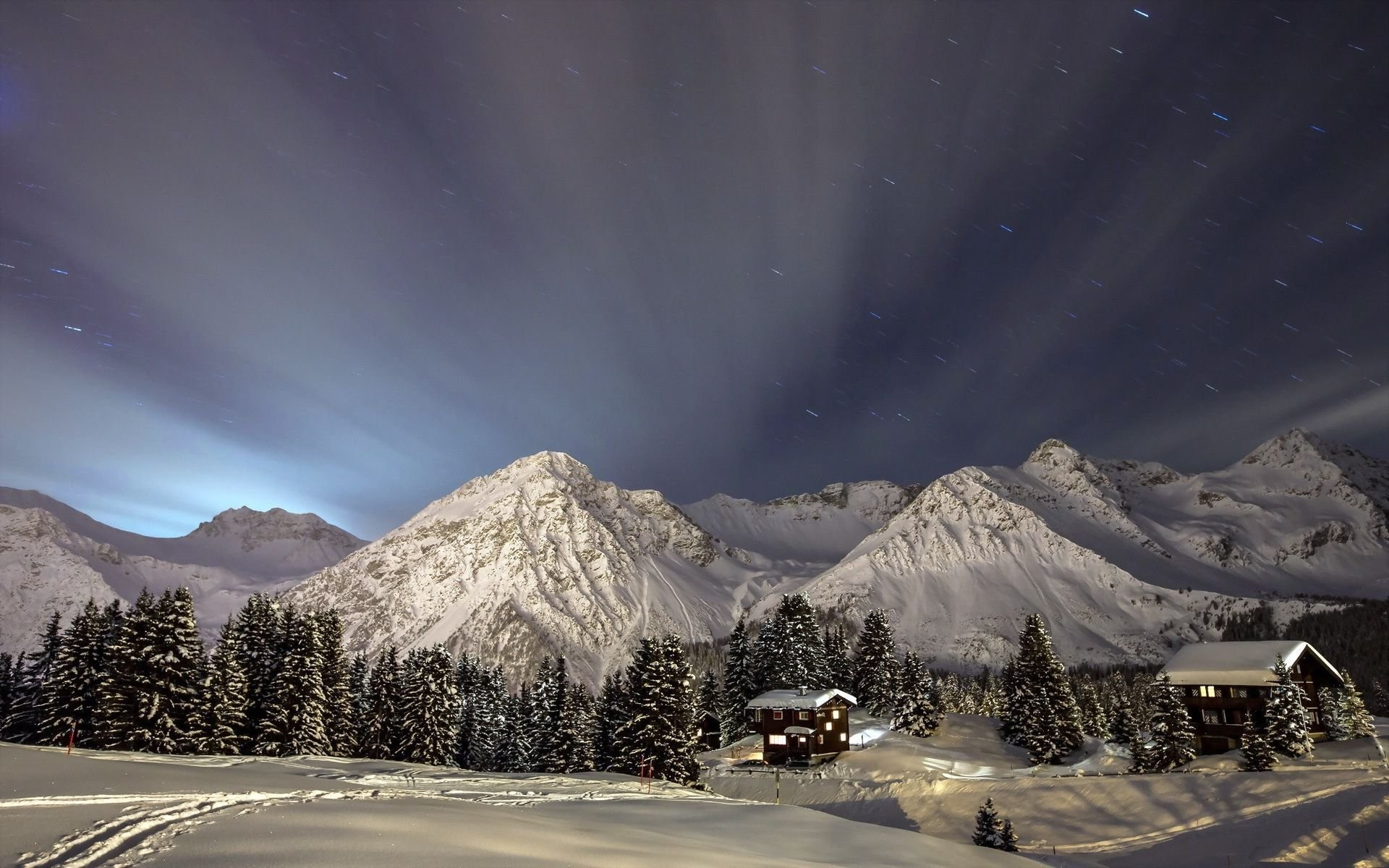 Winter Night In The Mountains …