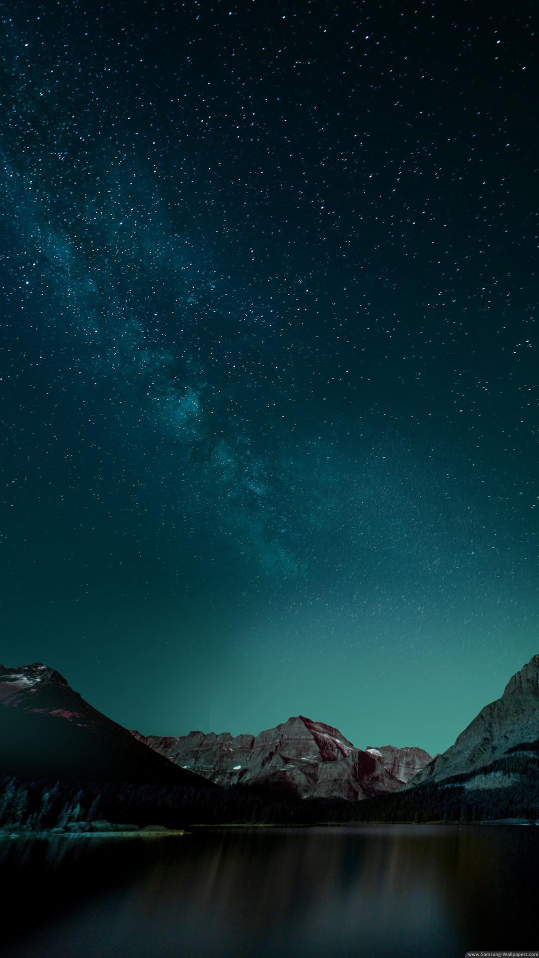 … Night Mountain Stock Samsung Galaxy S5 Wallpaper HD …