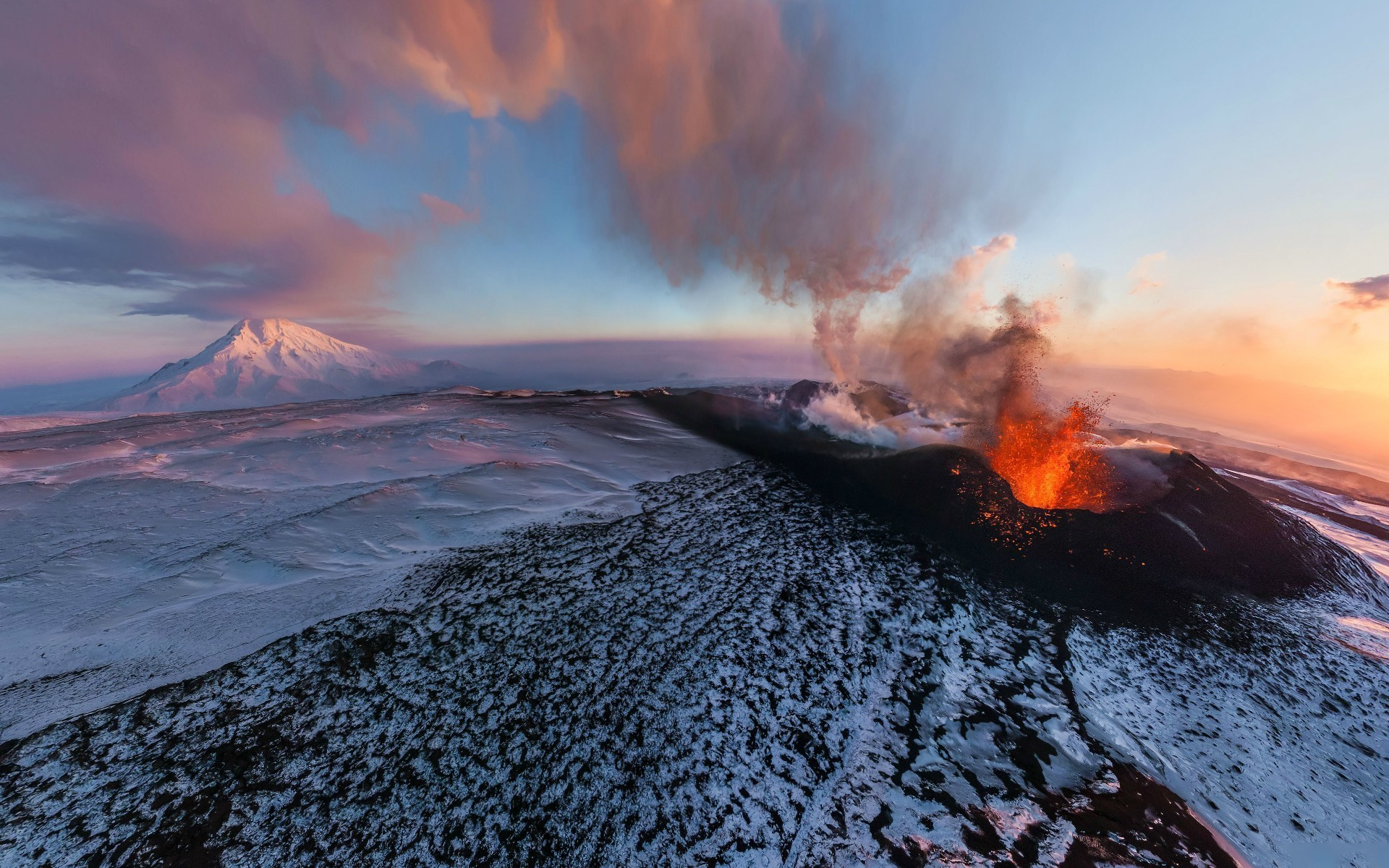 Cool Volcanoes Erupting Lava. Snow Mountain Landscape Hd Cool 7 HD  Wallpapers