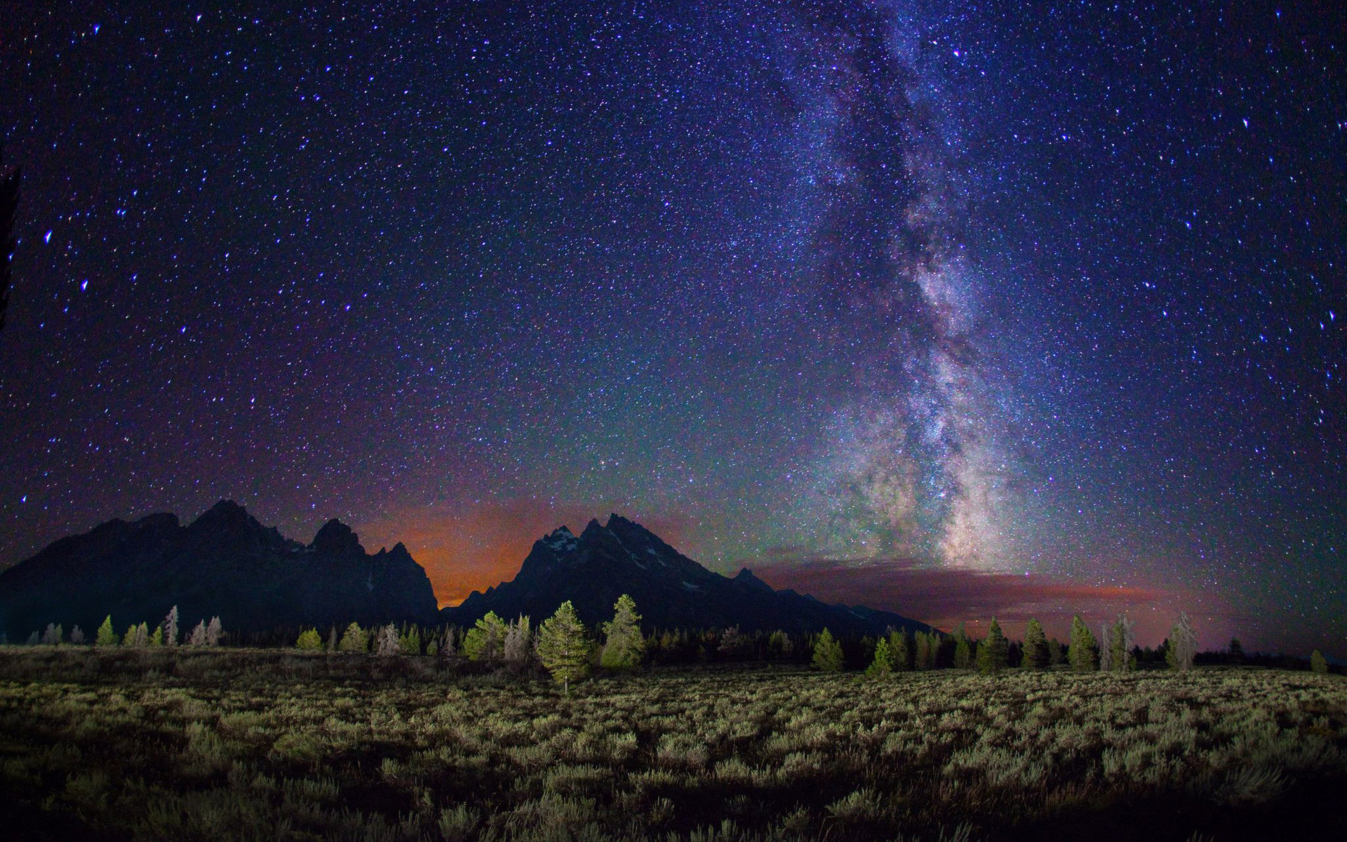 … sky above the mountains HD Wallpaper Night …