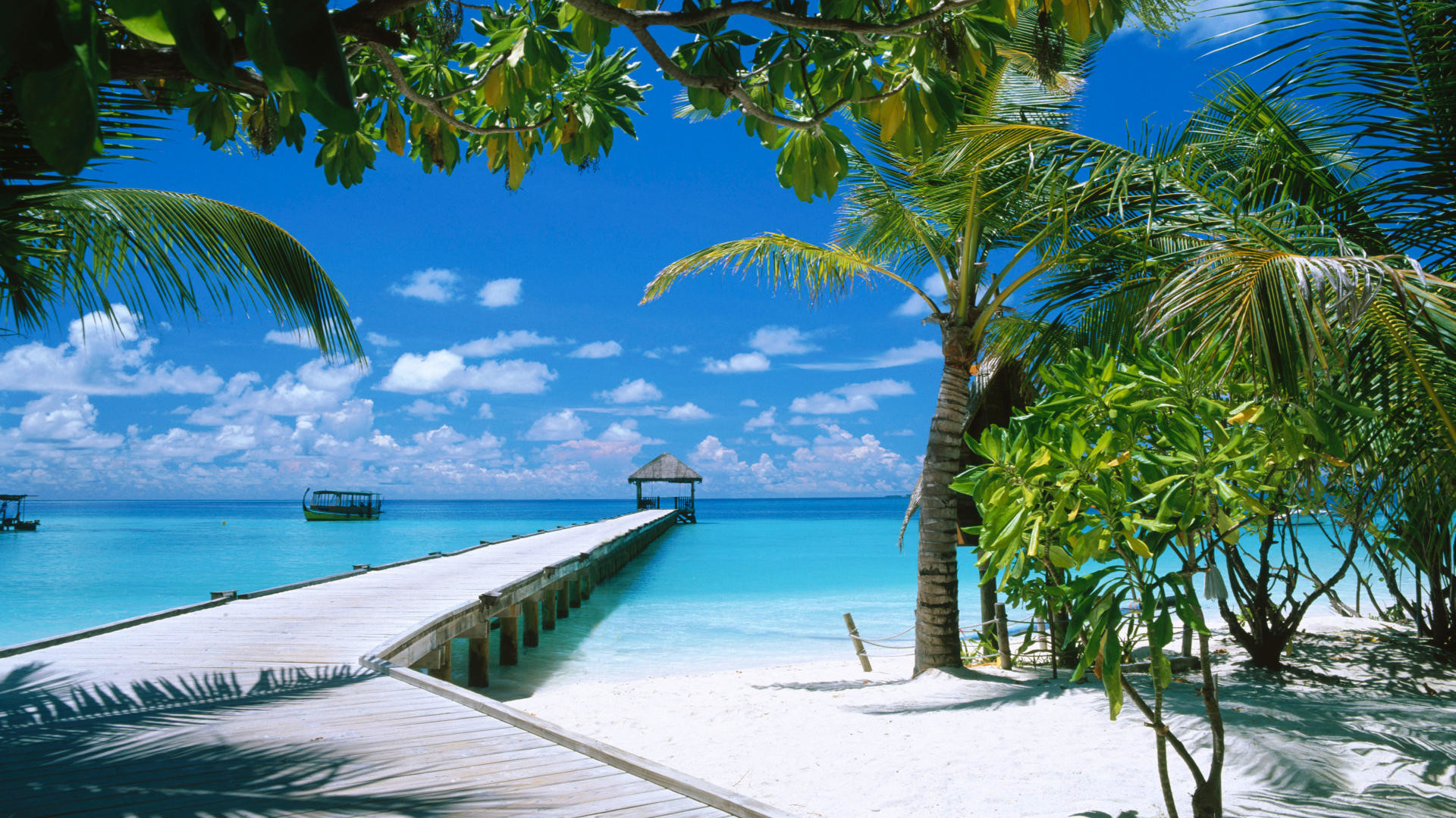 fond ecran plage beach wallpaper maldives HD gratuit – .
