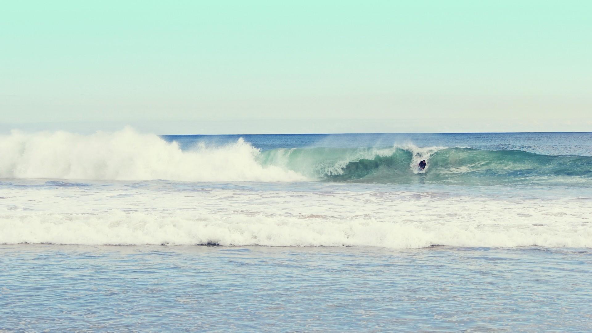 Preview wallpaper beach, ocean, waves, sea, sand, surf 1920×1080