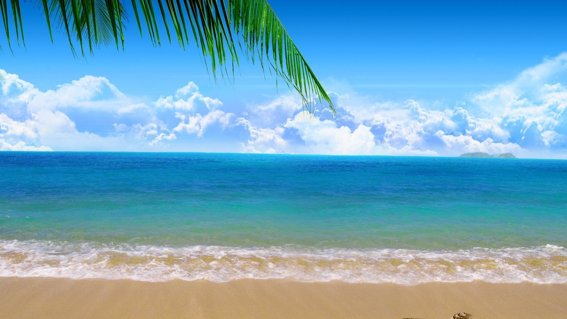 Wallpaper coast, beach, sand, sea, clouds, heart