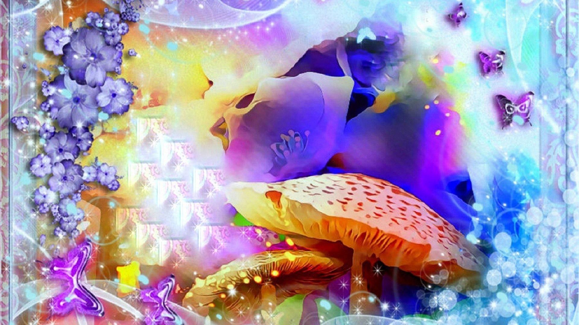 Wonderland Tag – Lovely Butterflies Colorful Drawings Designs Mushrooms  Paintings Attractions Beautiful Dreams Wonderland Spring Frame