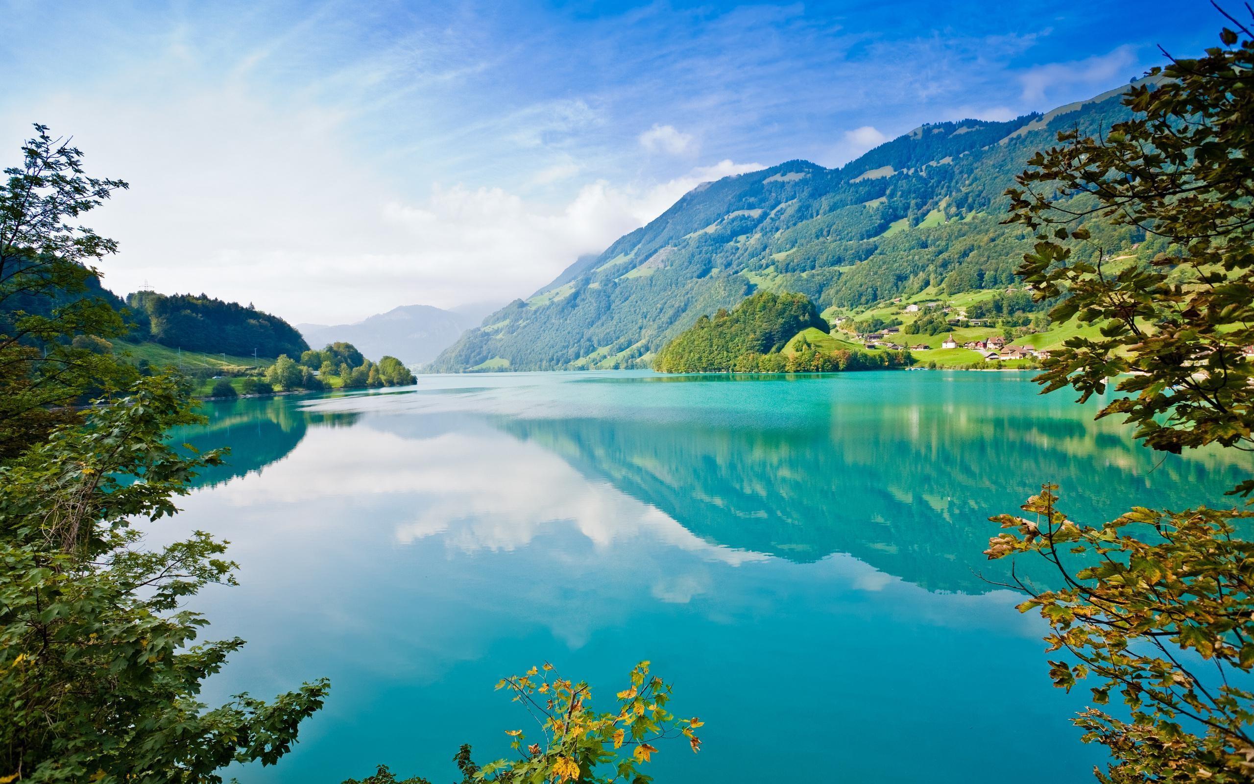 Cool Mountain Lake Summer HD Desktop Wallpaper, Background Image
