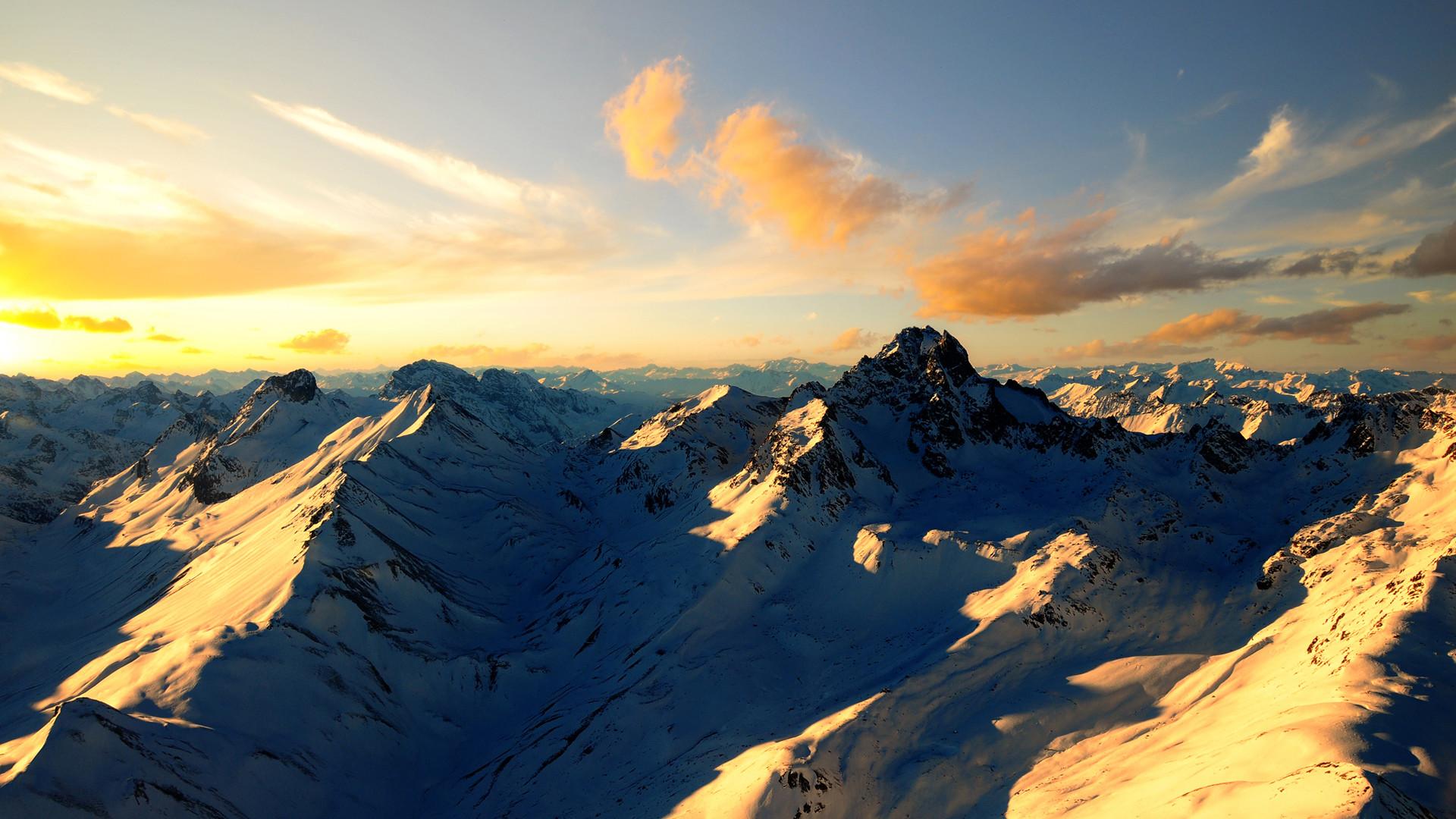 Cool Mountain Range Wallpaper