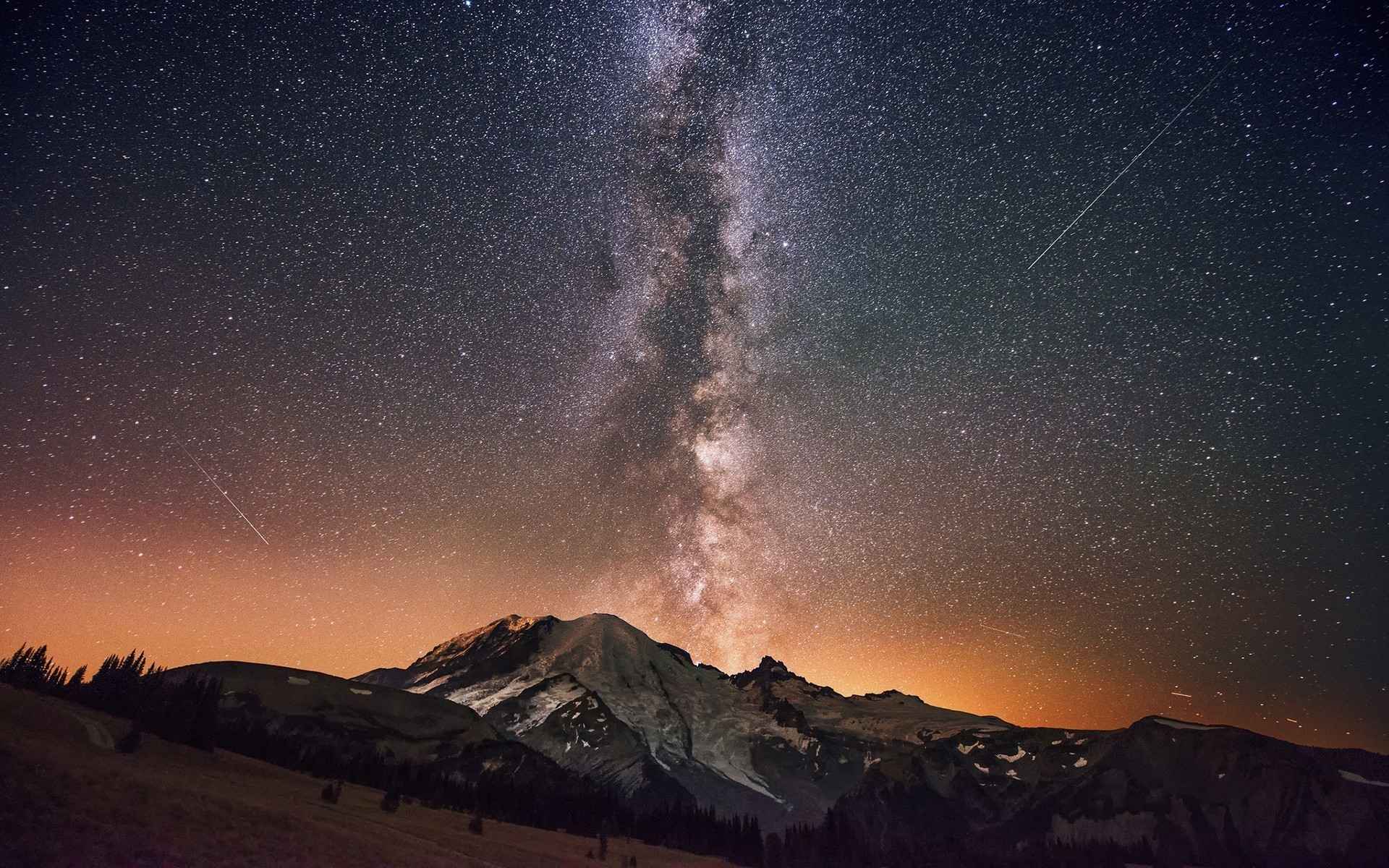 Milky Way Mountains Wallpapers for Background – Hot HD Wallpapers