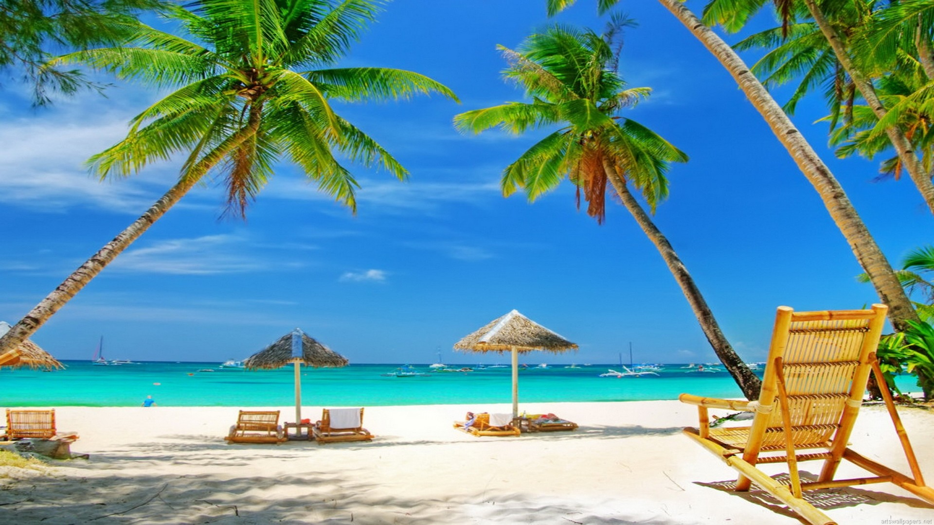 Download Sunny Beach Wallpaper pictures in high definition or .