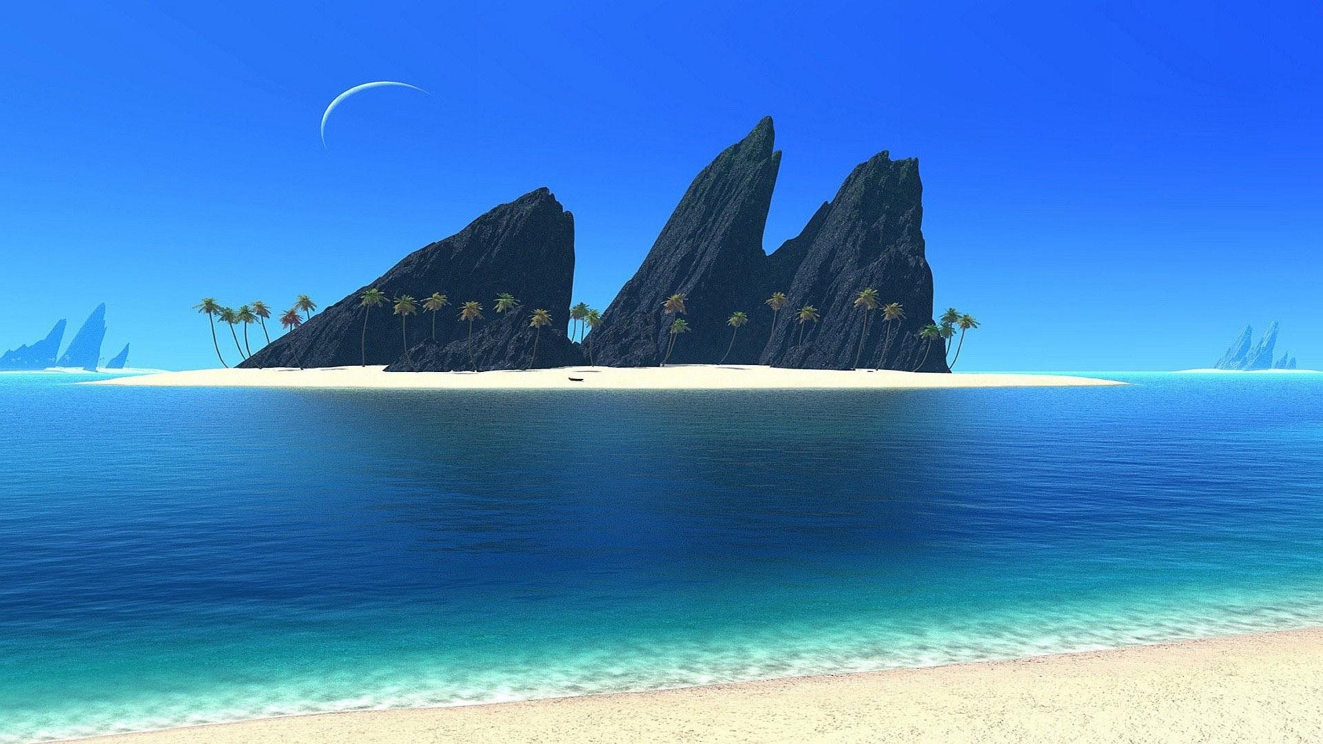 Sunny Beach Wallpaper Widescreen
