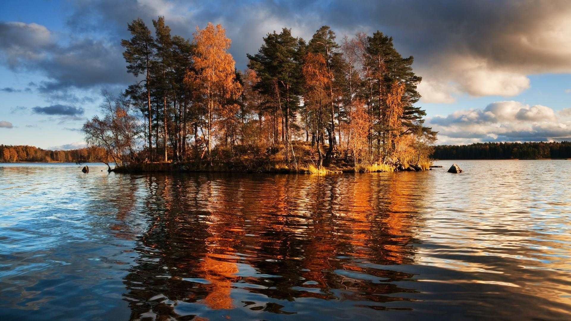 Lake trees autumn fall reflection wallpaper | | 117633 .