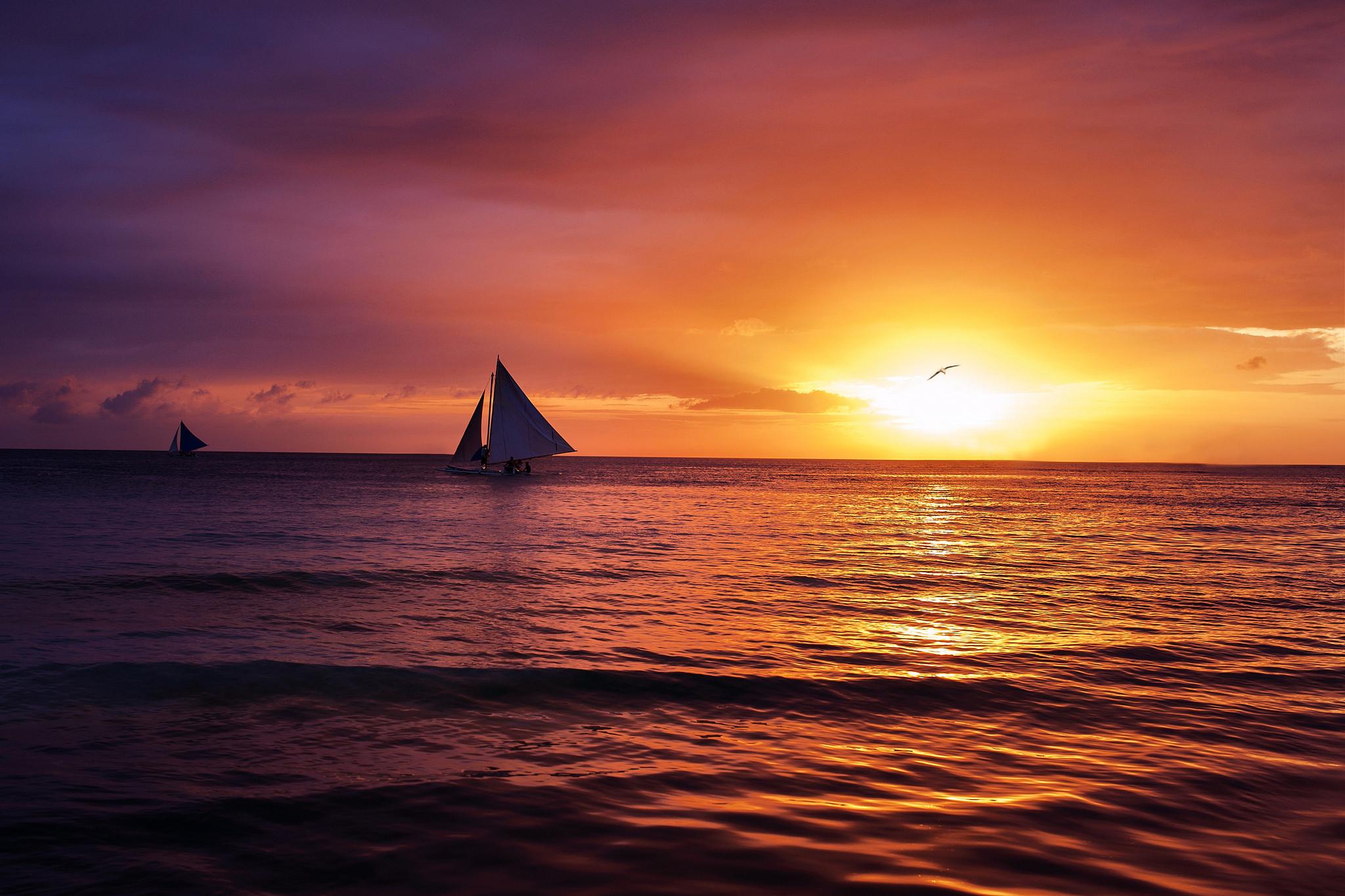 ocean-evening-sunset background