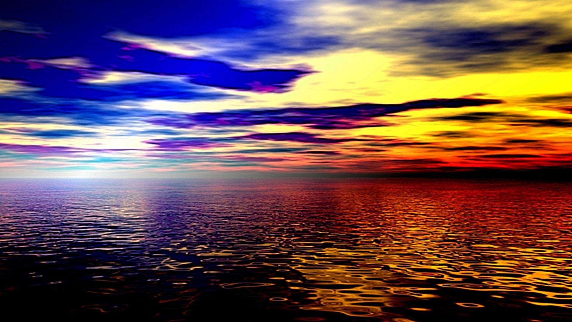 Beach Sunset Background Hd Background Wallpaper High Definition