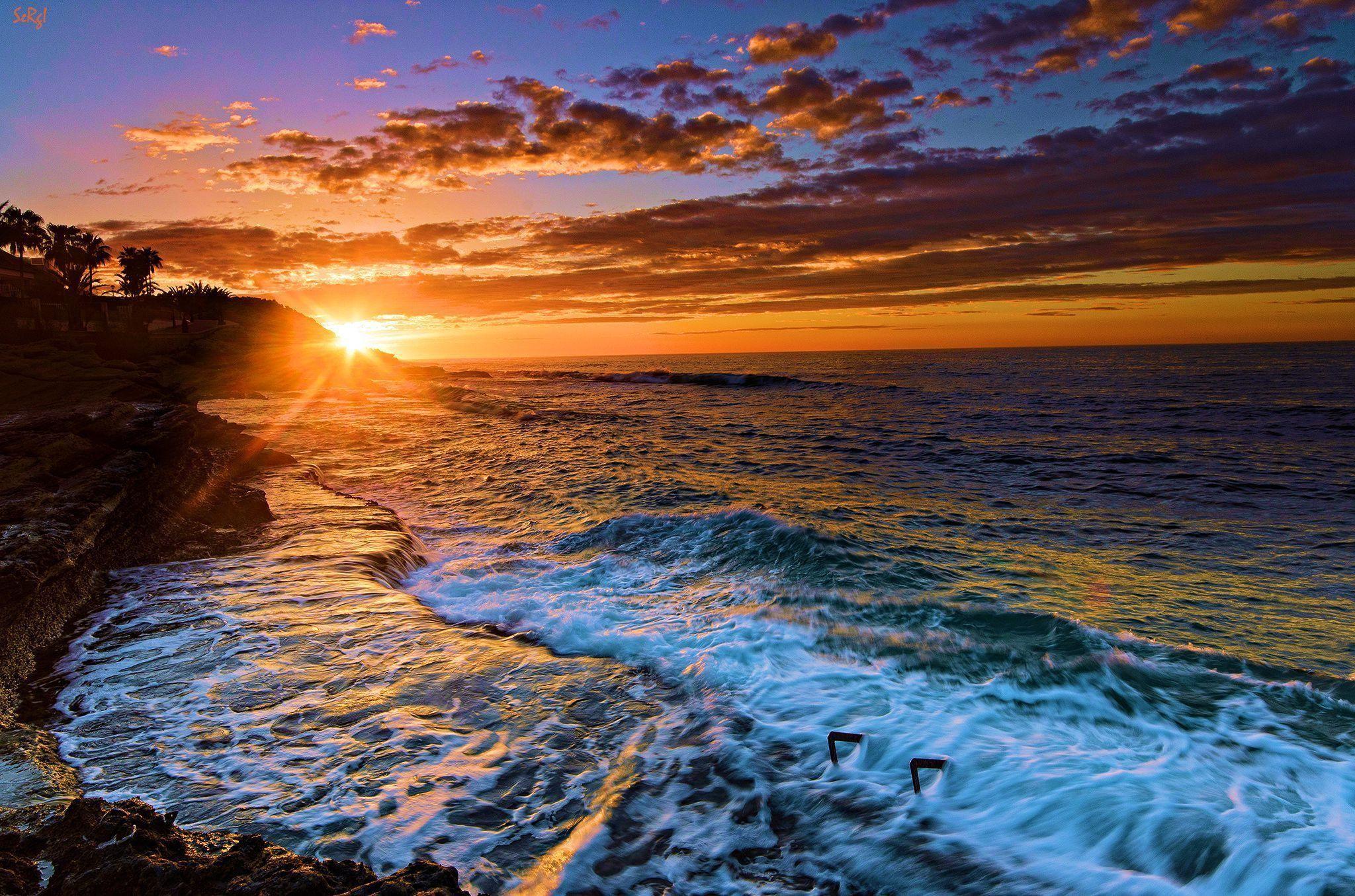 Beach Sunset Background Hd Background Wallpaper 16 HD Wallpapers .