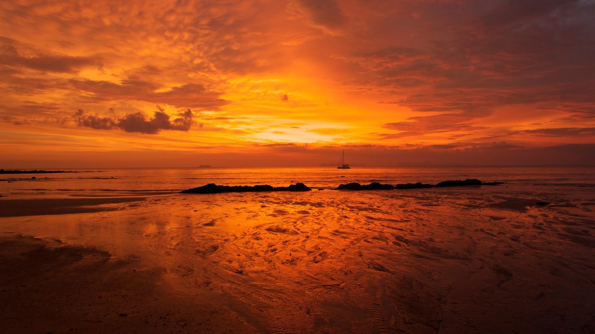 Orange Sunset Background 30012