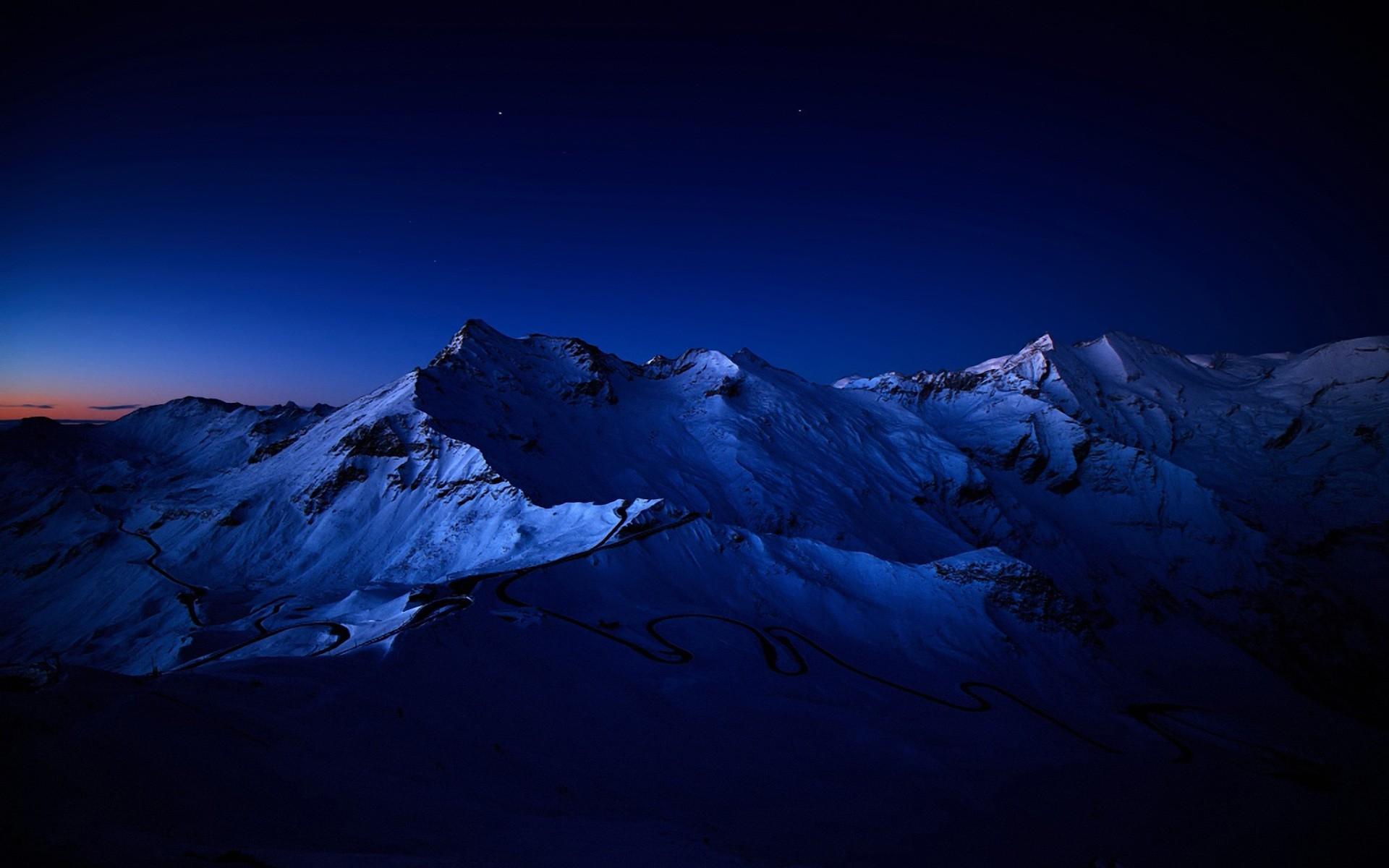 Night Mountain Desktop Wallpaper HD Resolution