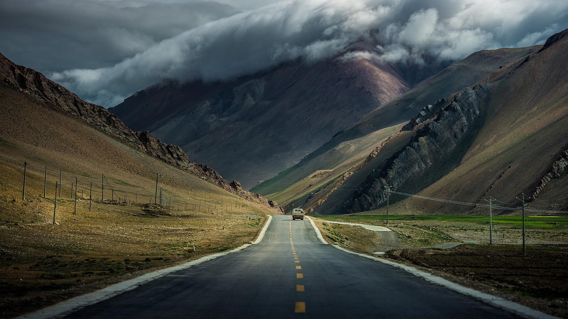 road-mountains-overcast-clouds-1920×1080.jpg (1920×1080) · Hd  WallpaperWallpapersThe …