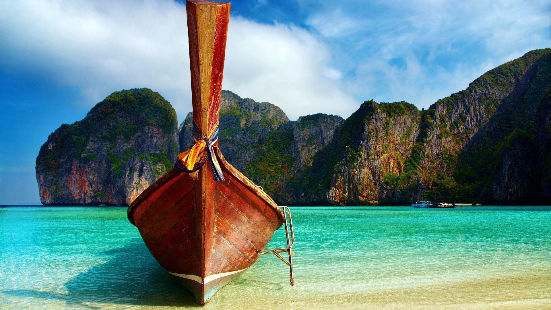 Boats Boat Nature Ocean Beautiful Thailand Sea Beach Beaches Rocks Oceans  Iphone Wallpaper – 1920×1200