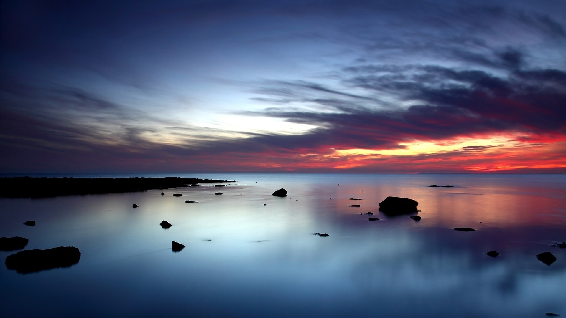 Beautiful Ocean Sunset Wallpaper 35975