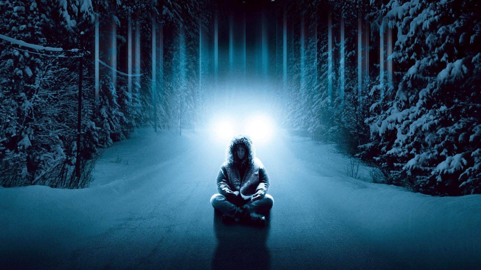 Wallpaper Dreamcatcher, Man, Light, Cold, Snow, Forest, Winter