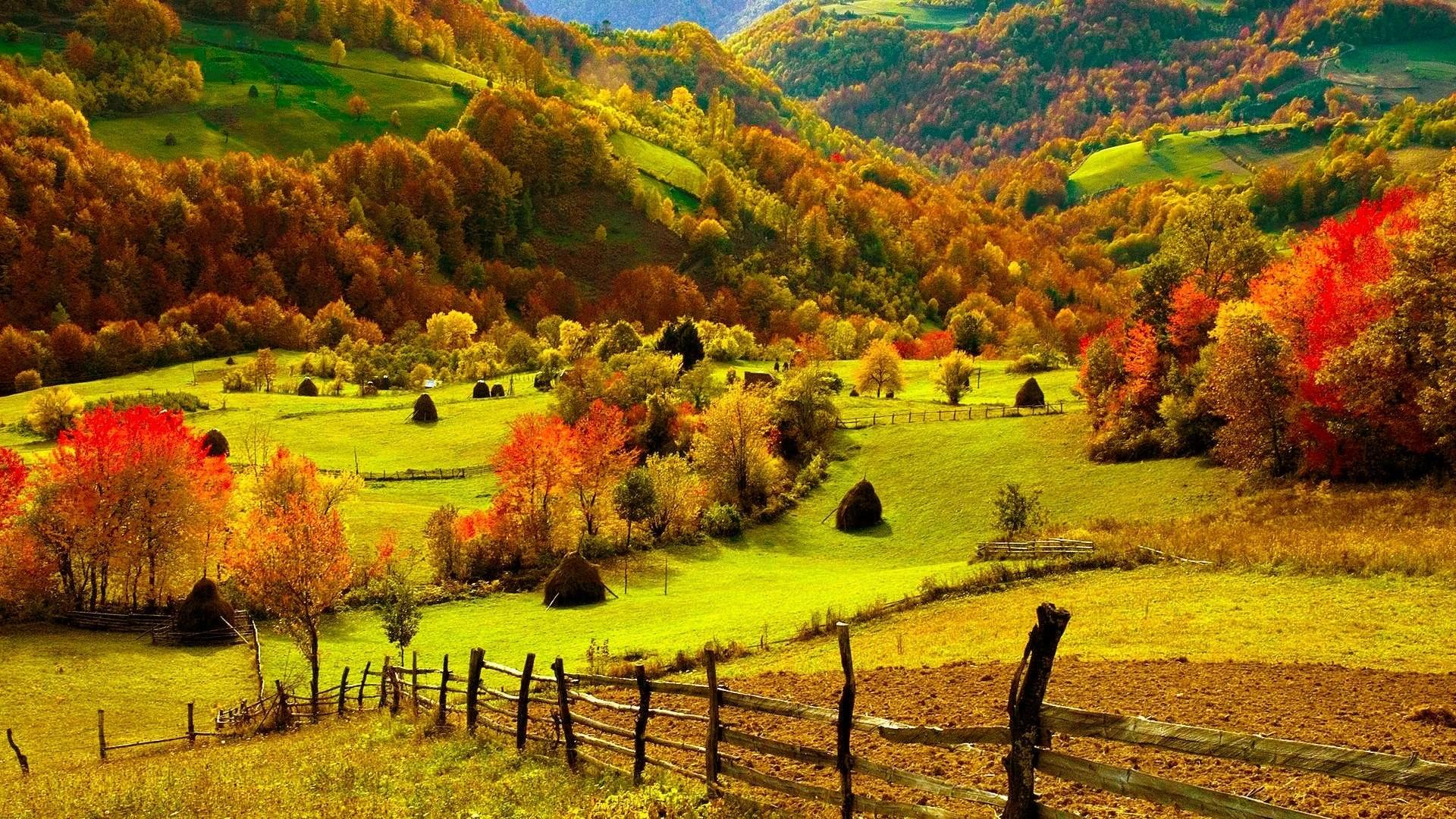 Fall Farm Desktop Wallpaper