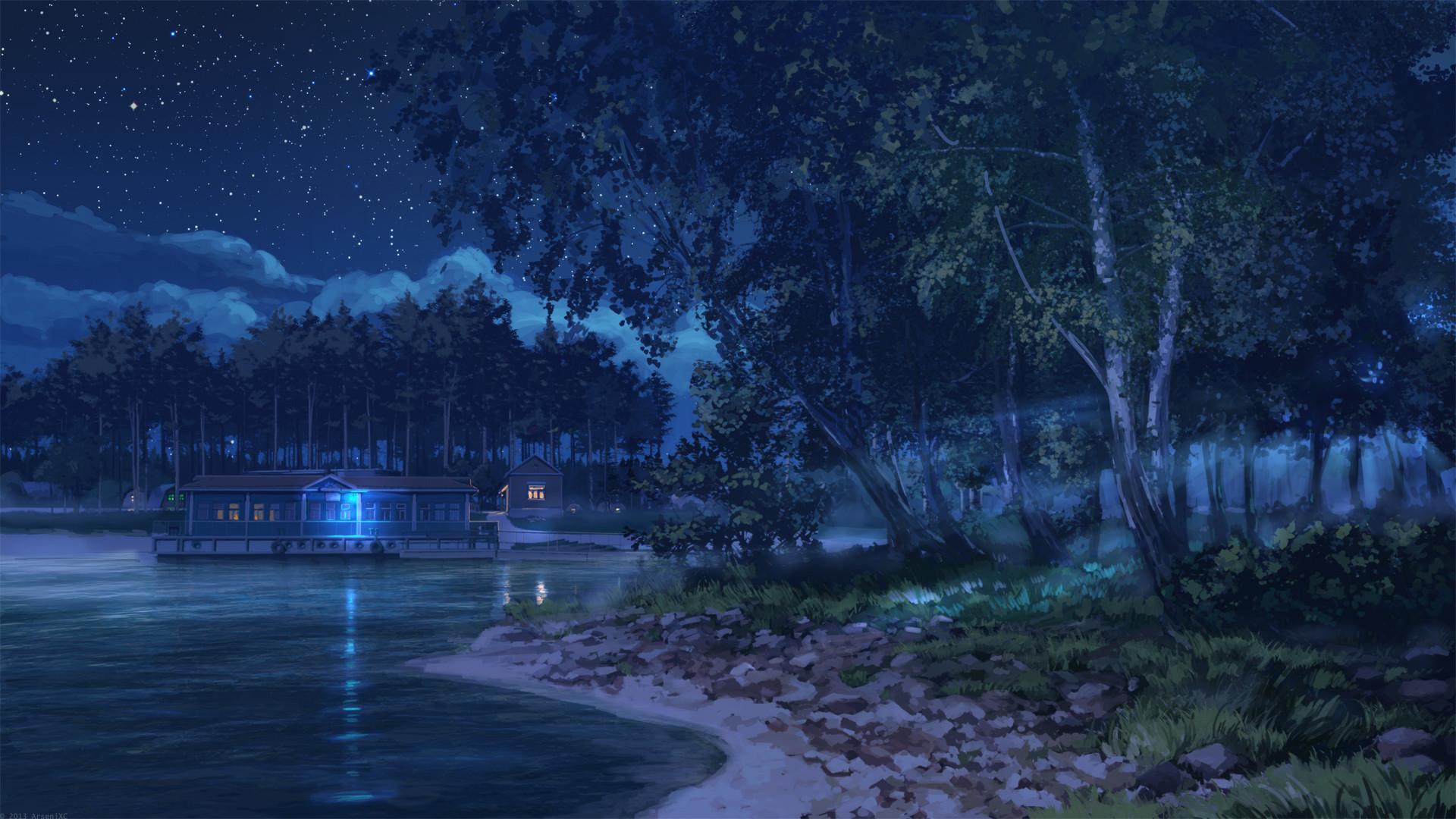 Night Anime Scenery Wallpaper Android – Bhstorm.com