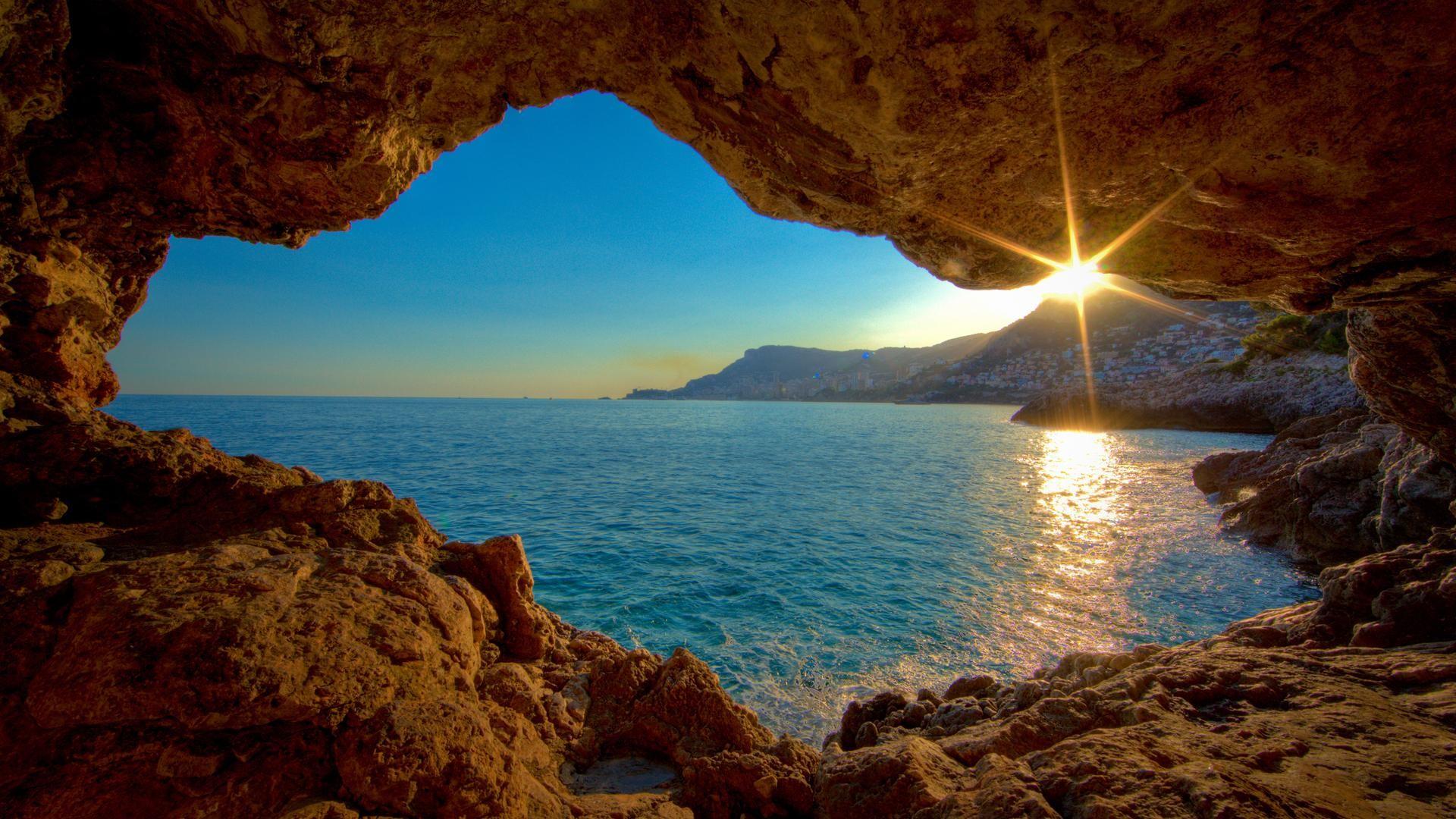 Gorgeous Ocean Cavern – Nature Wallpaper