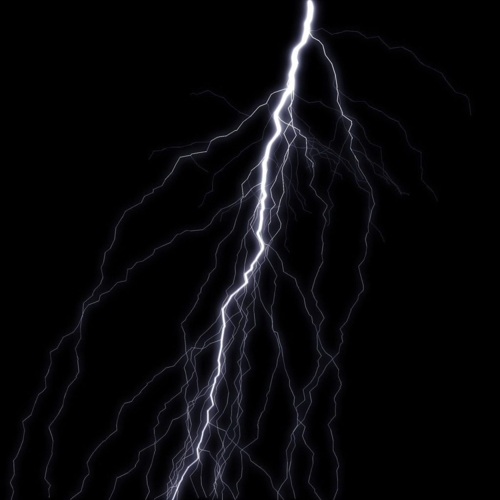 Blue Lightning Bolt Black Background – Viewing Gallery