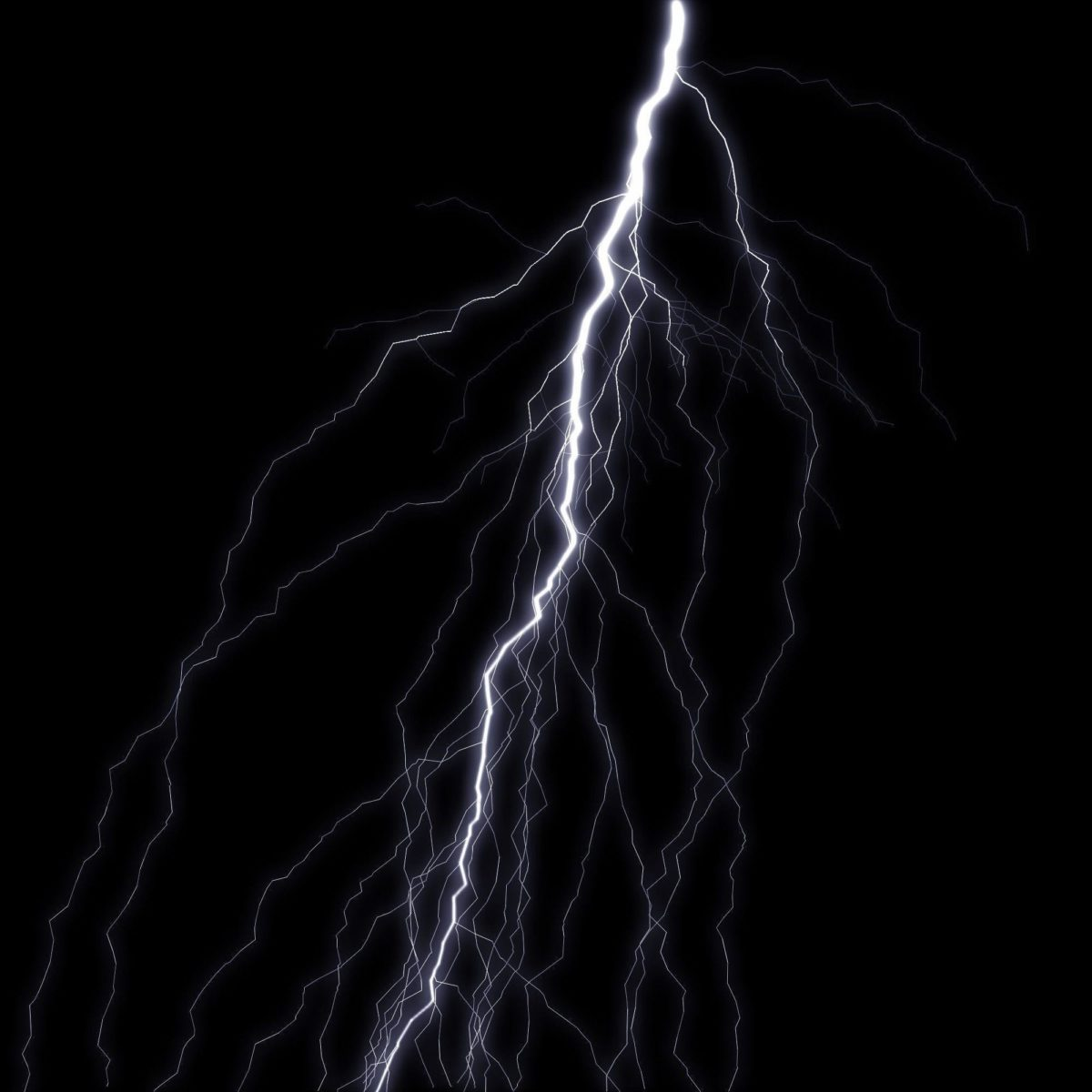 Blue Lightning Bolt Black Background – Viewing Gallery