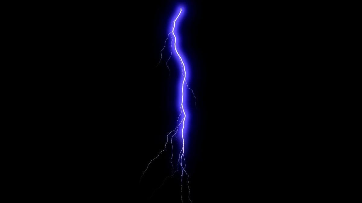 2Several Lightning Strikes Over Black Background. Blue Electrical Storm.  Stock Video Footage – VideoBlocks