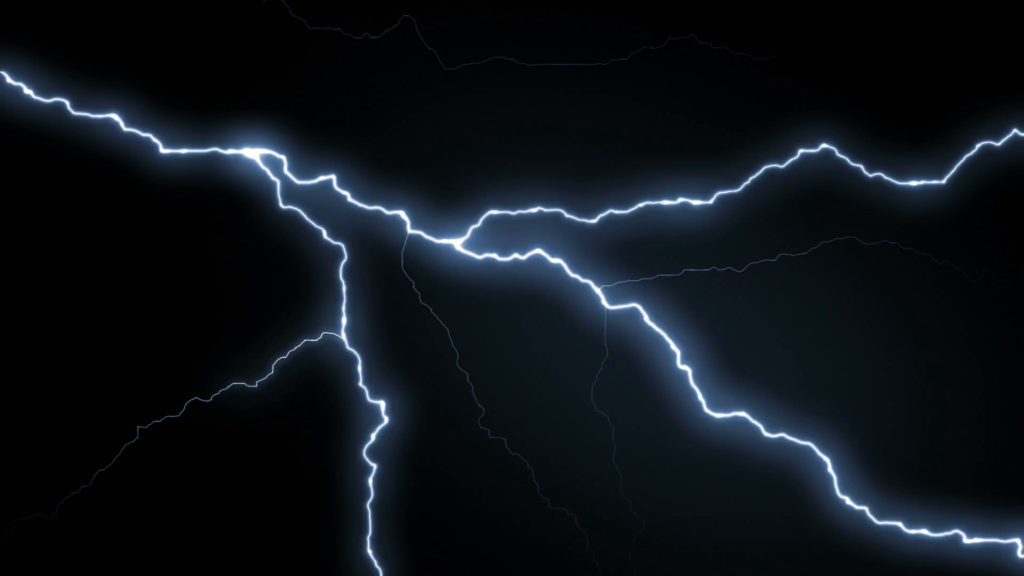 Lightning strikes over black background REALISTIC Motion Background –  VideoBlocks