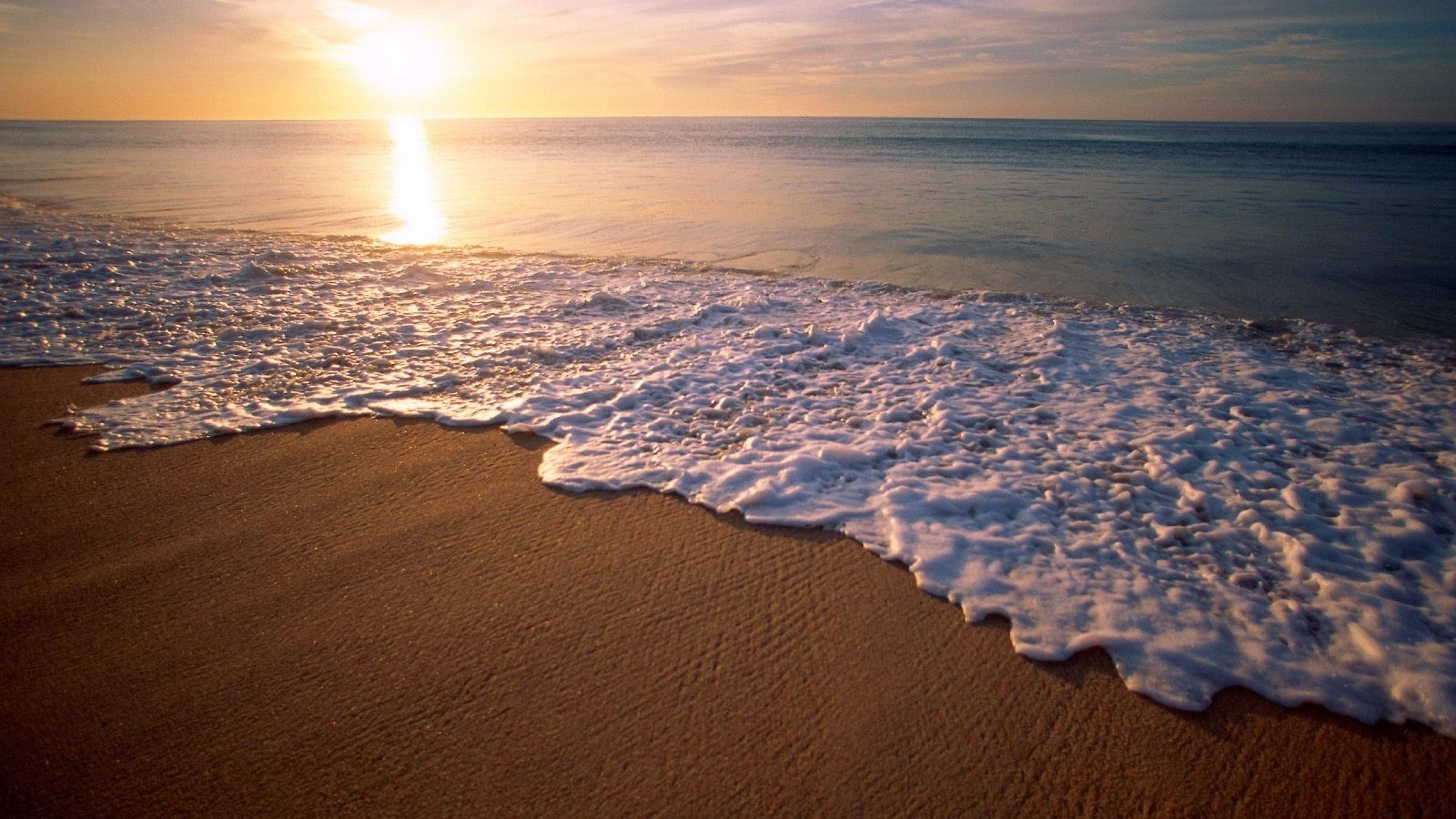 Preview wallpaper mexico city, california, beach, wave, foam, sand, evening