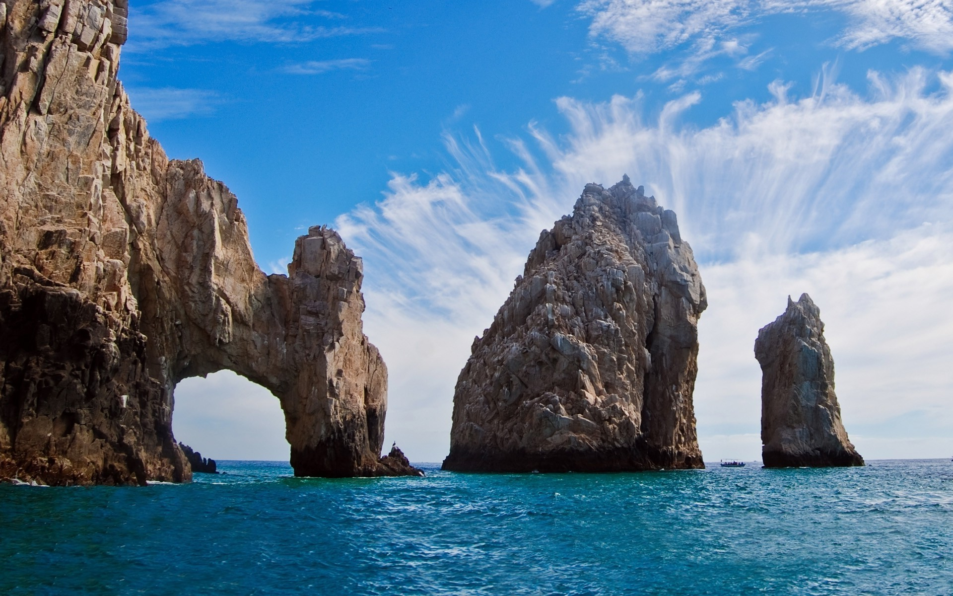 sea, Rock, Cliff, Island, Beach, Mexico, Clouds, Nature, Water, Landscape  Wallpapers HD / Desktop and Mobile Backgrounds
