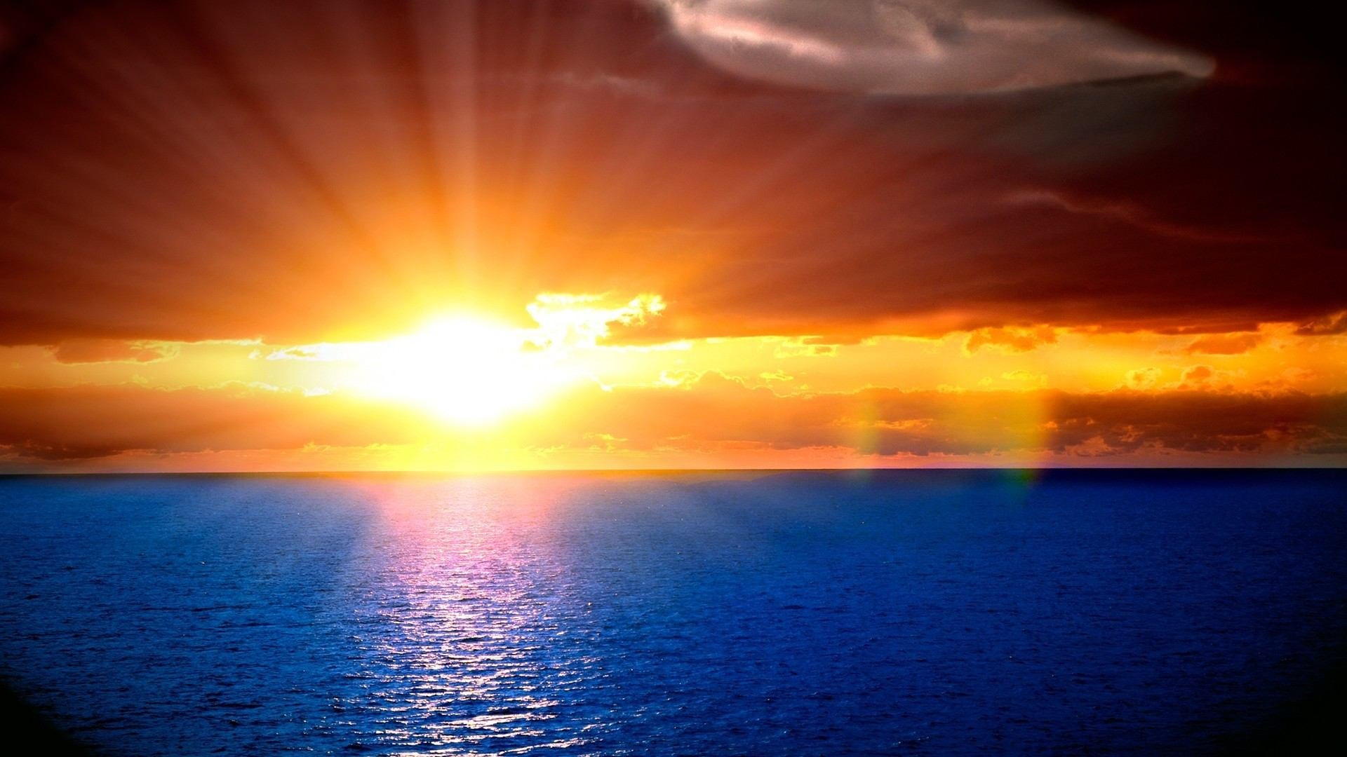 Beautiful sunset · Sunset On The Ocean Wallpaper …