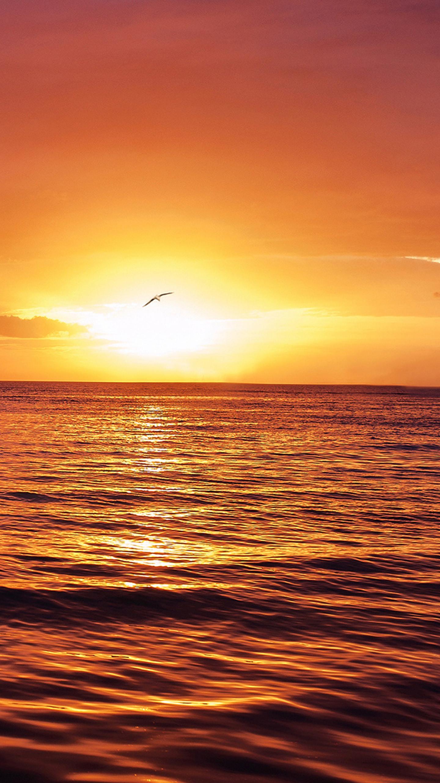 Beautiful ocean sunset 2 Galaxy S7 Wallpaper