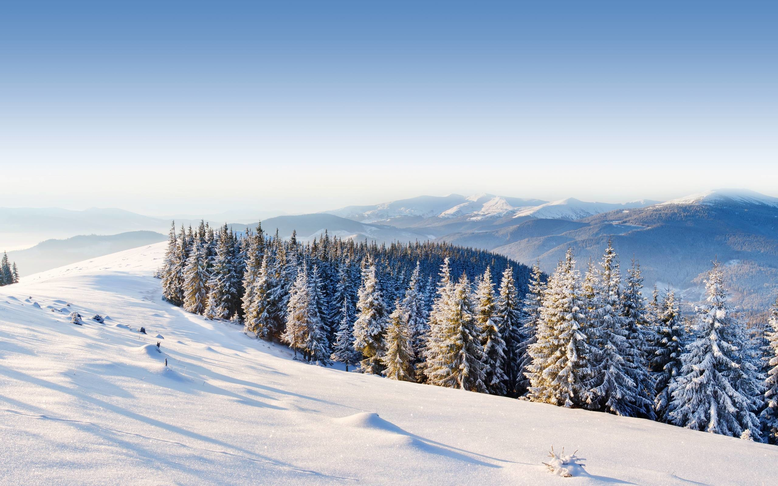 Daily Wallpaper: Winter in the Mountains   I Like To Waste My Time