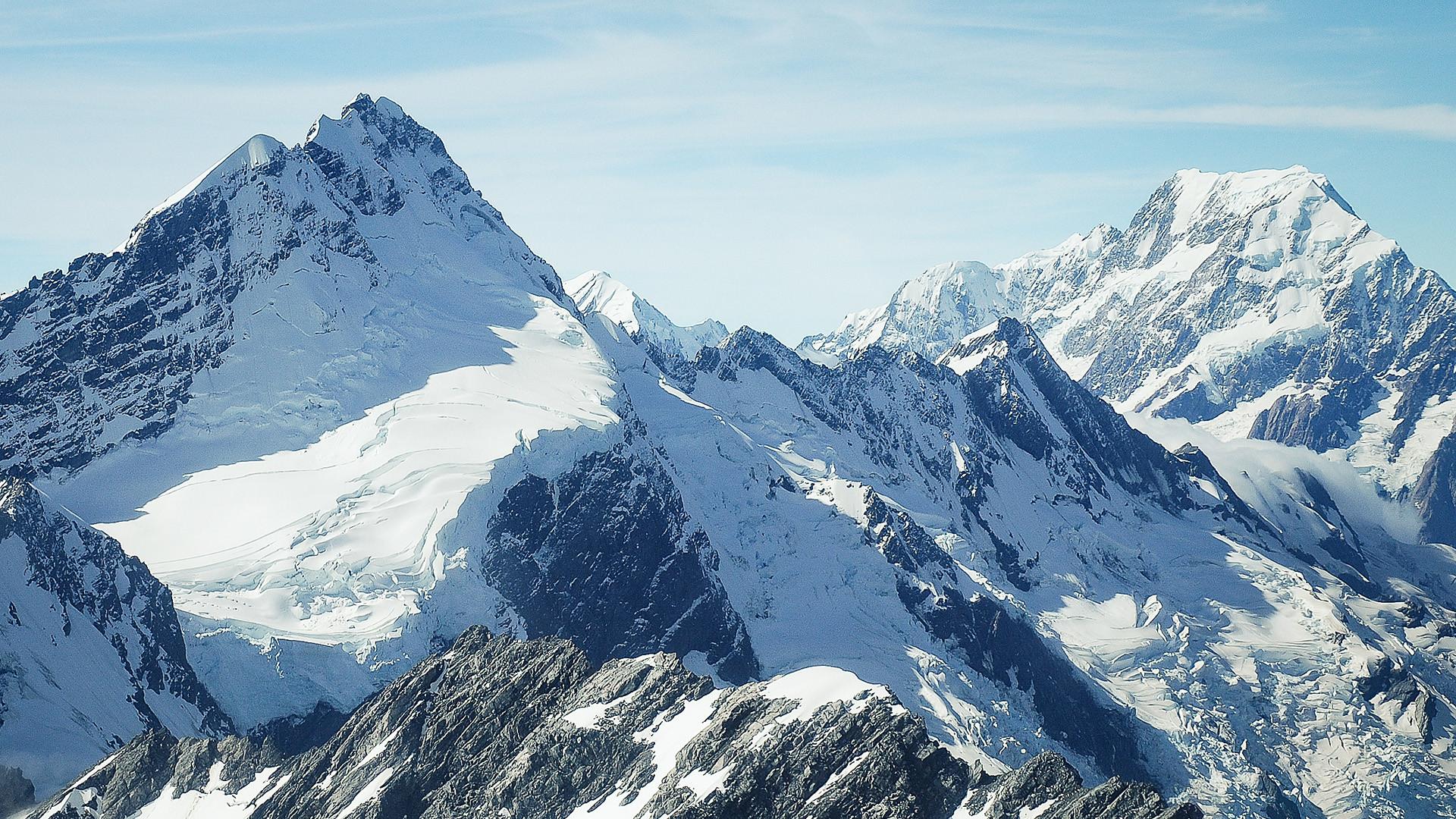 Winter Mountain HD Wallpaper