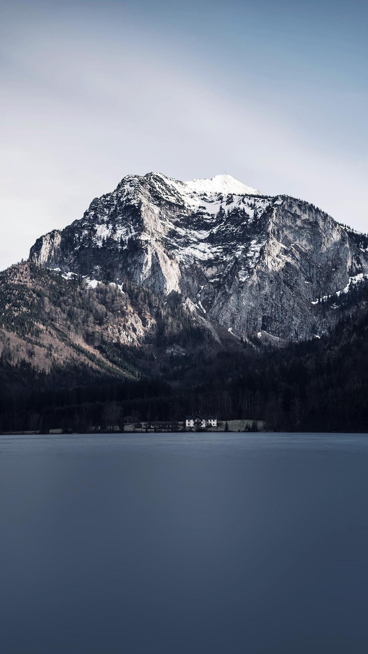 Winter Mountain Lake View Snow Android Wallpaper …