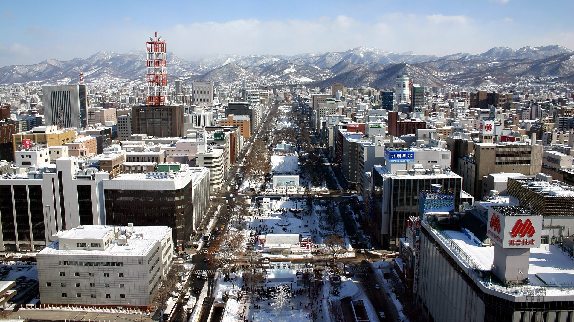 Japan, Sapporo, Sapporo Japan, Winter, Snow Wallpapers HD .