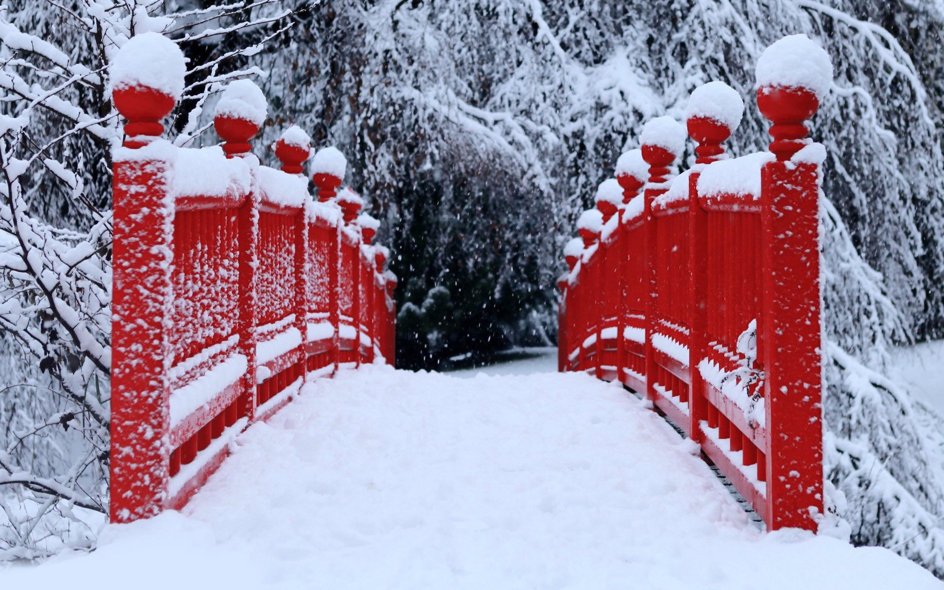 wallpapertvs.com snowy bridge winter hd wallpaper