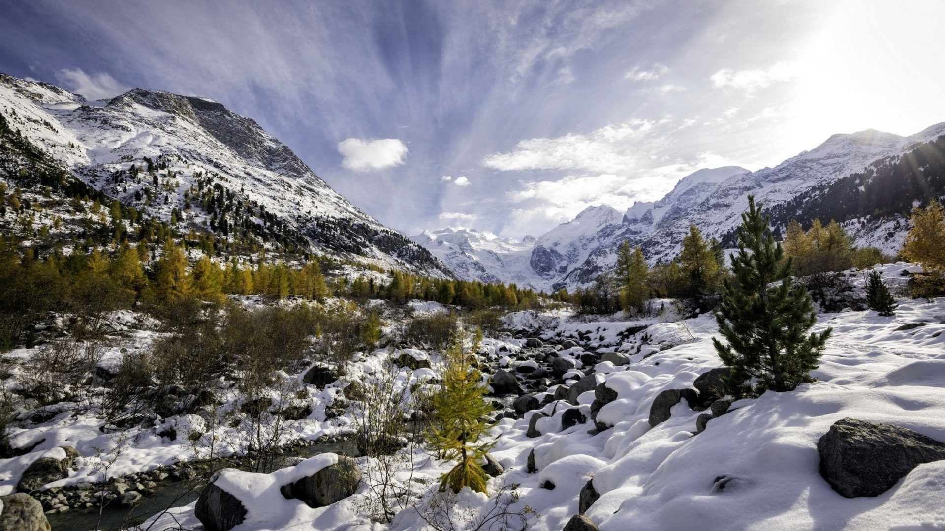Snow Tag – Stream Rock Snow Winter Nature Mountain Landscape Wallpapers  Collection for HD 16:
