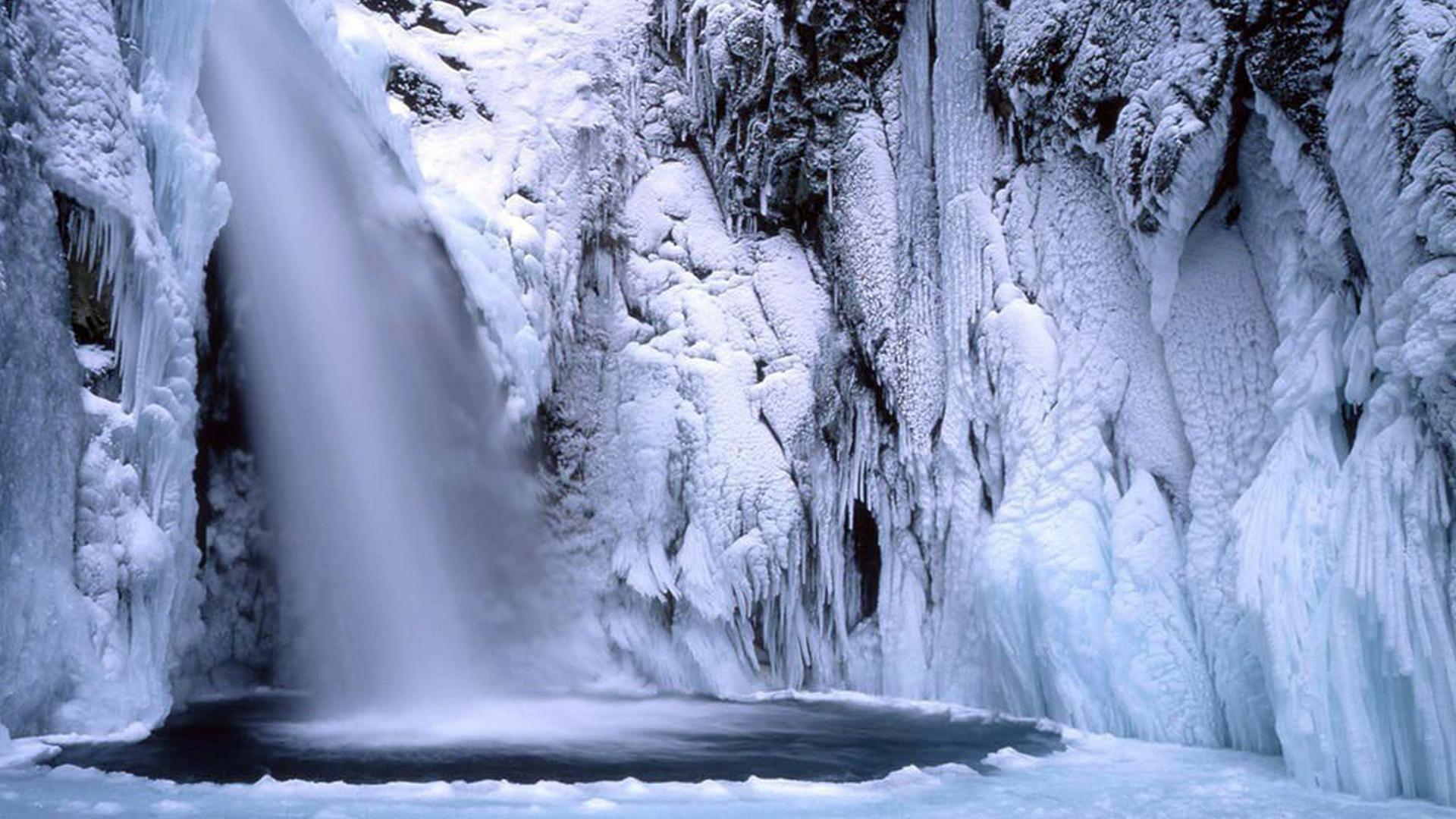 Japan winter waterfalls wallpaper | (18873)